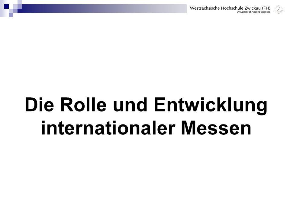Die Rolle und Entwicklung internationaler Messen