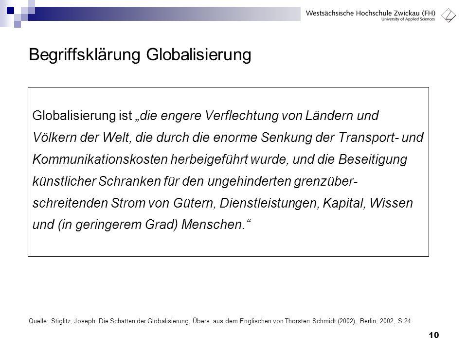 Begriffsklärung Globalisierung