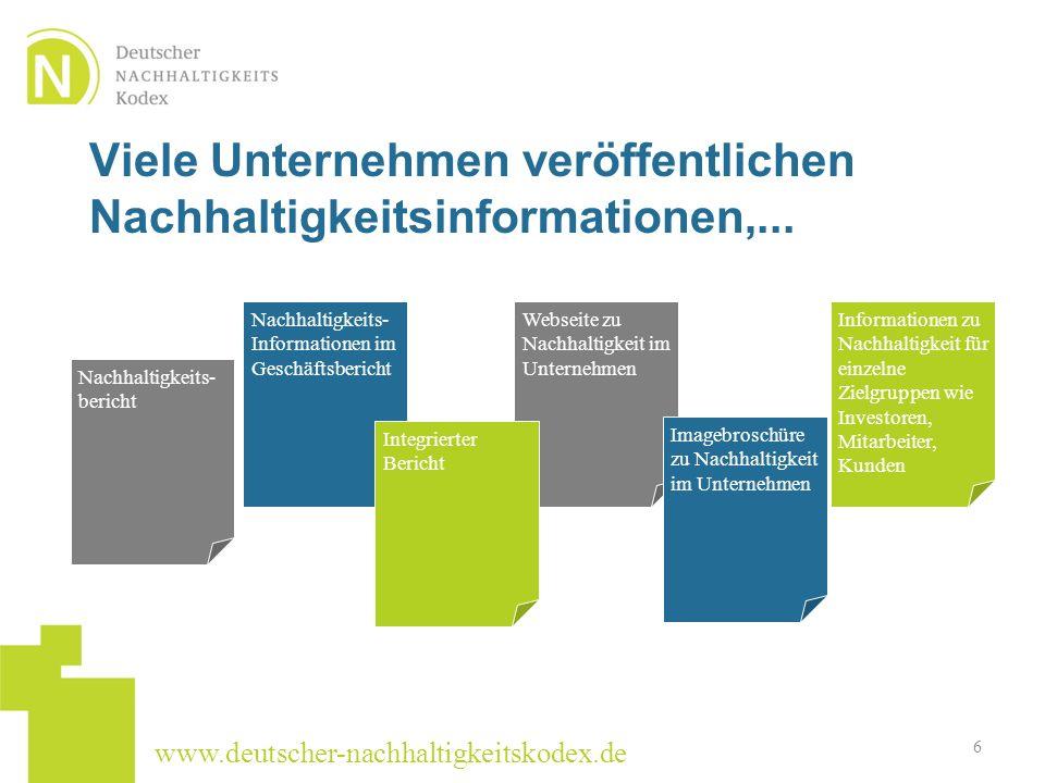 Viele Unternehmen veröffentlichen Nachhaltigkeitsinformationen,...