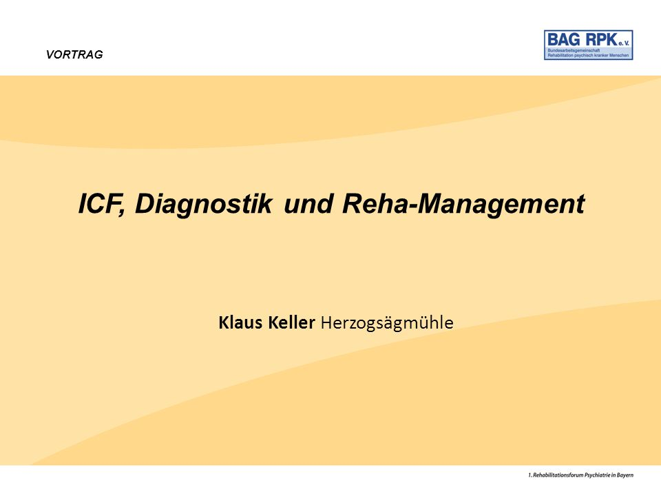 ICF, Diagnostik und Reha-Management