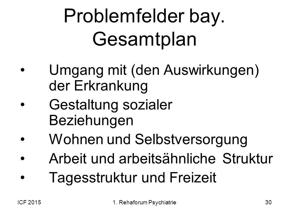 Problemfelder bay. Gesamtplan