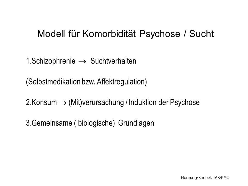 Modell für Komorbidität Psychose / Sucht