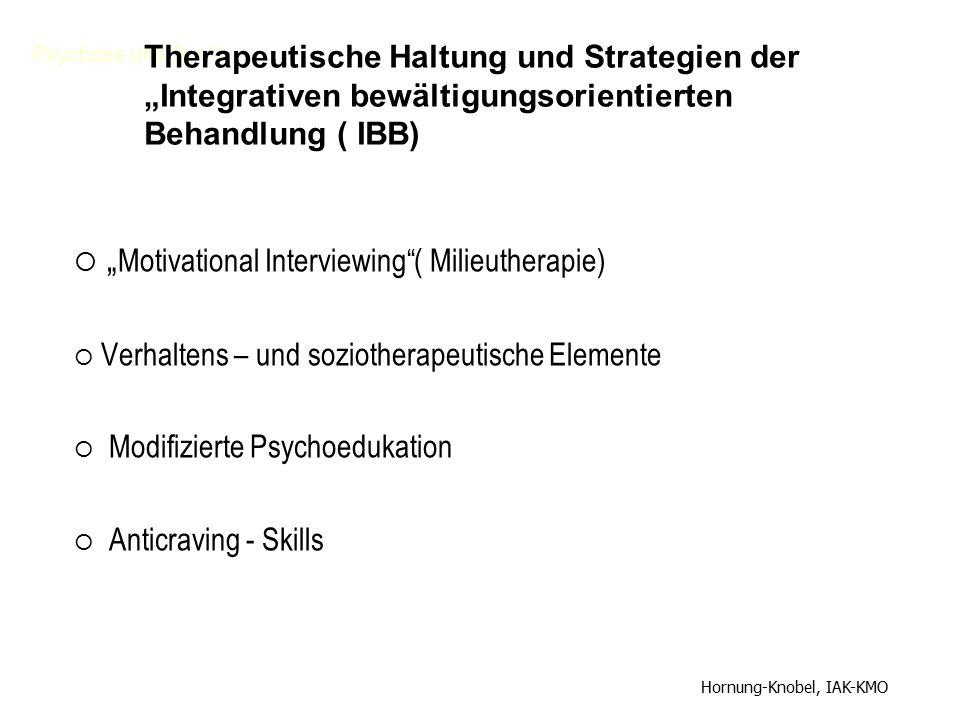 """Motivational Interviewing ( Milieutherapie)"