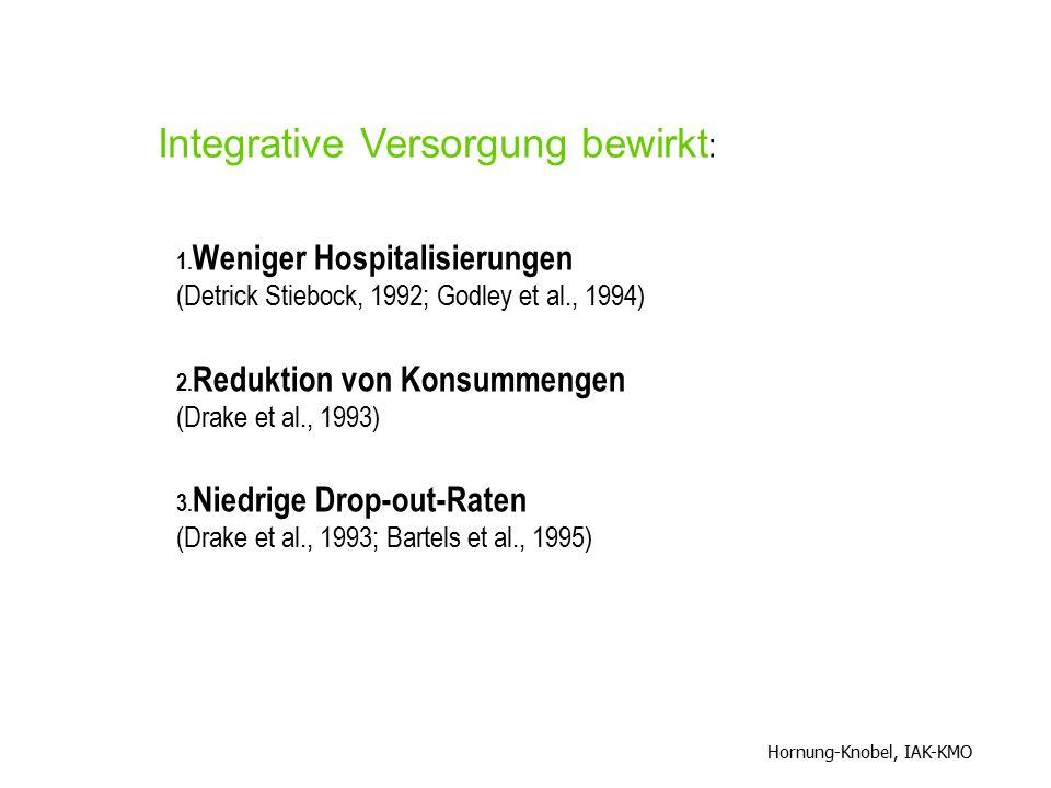 Integrative Versorgung bewirkt: