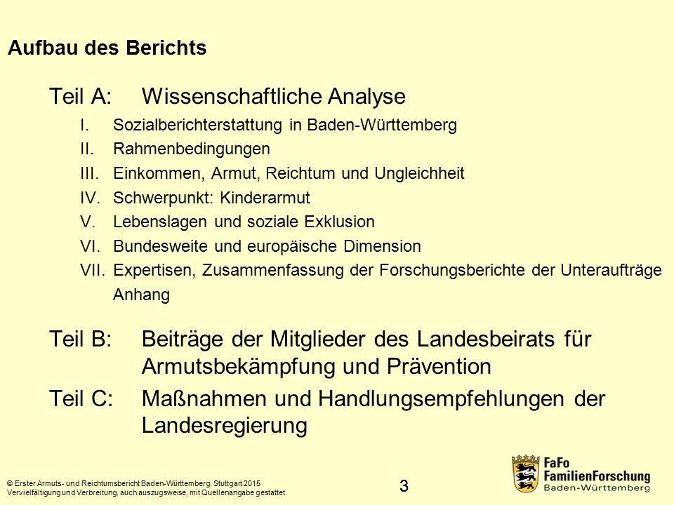Teil A: Wissenschaftliche Analyse