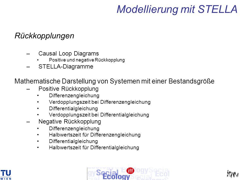 Modellierung mit STELLA