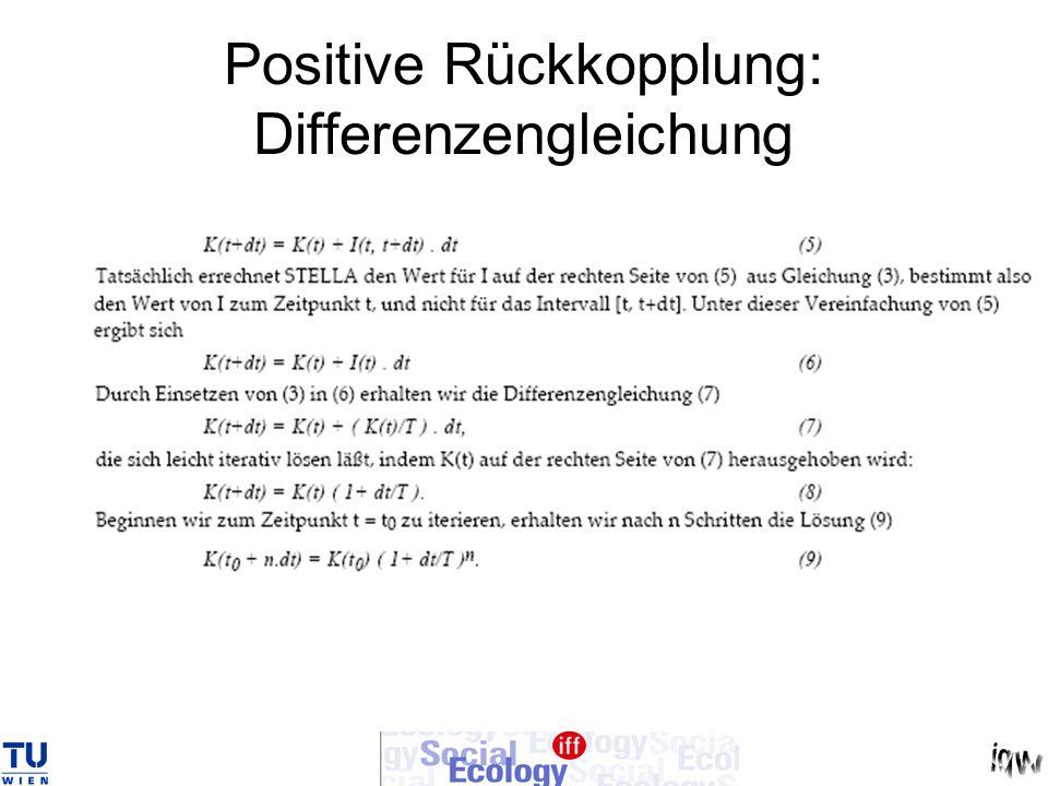 Positive Rückkopplung: Differenzengleichung