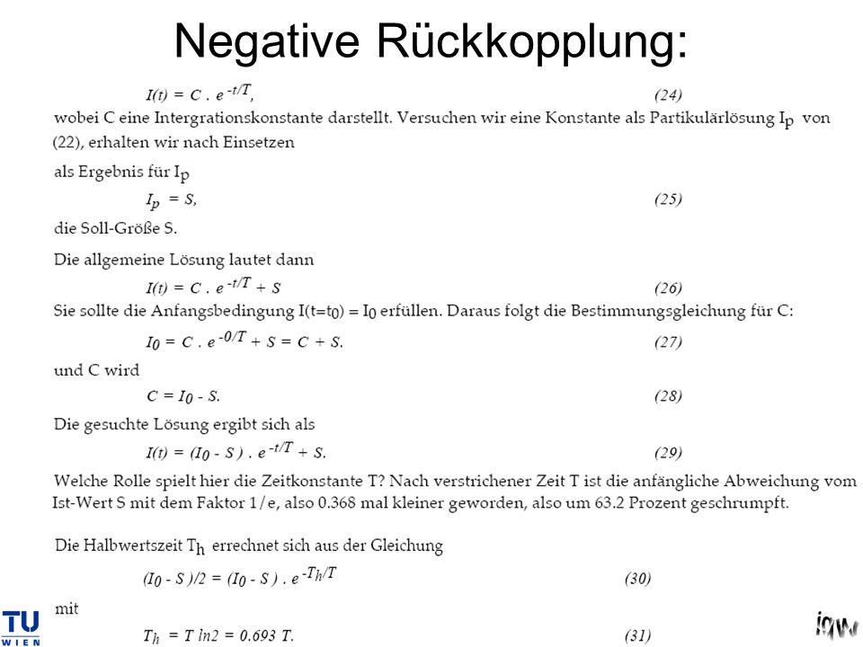 Negative Rückkopplung: Differenzialgleichung