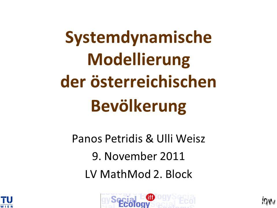 Systemdynamische Modellierung der österreichischen Bevölkerung