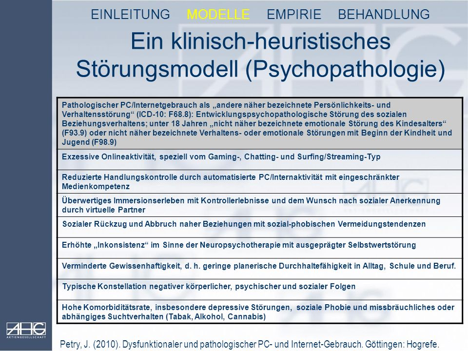 Ein klinisch-heuristisches Störungsmodell (Psychopathologie)
