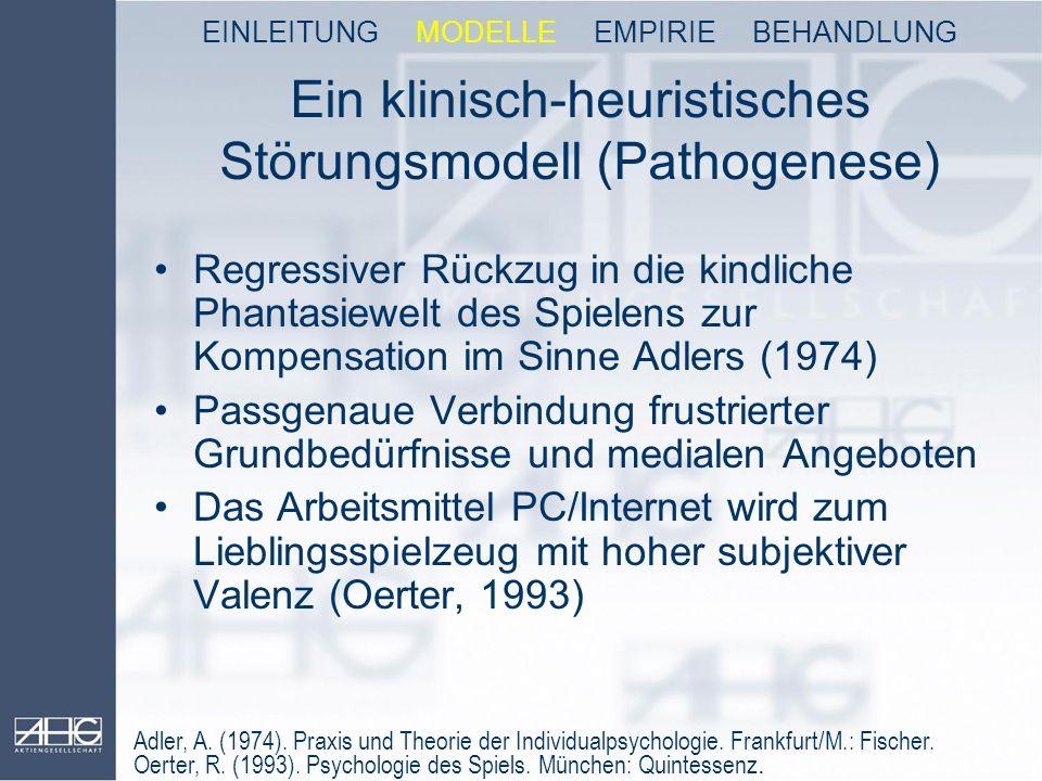 Ein klinisch-heuristisches Störungsmodell (Pathogenese)