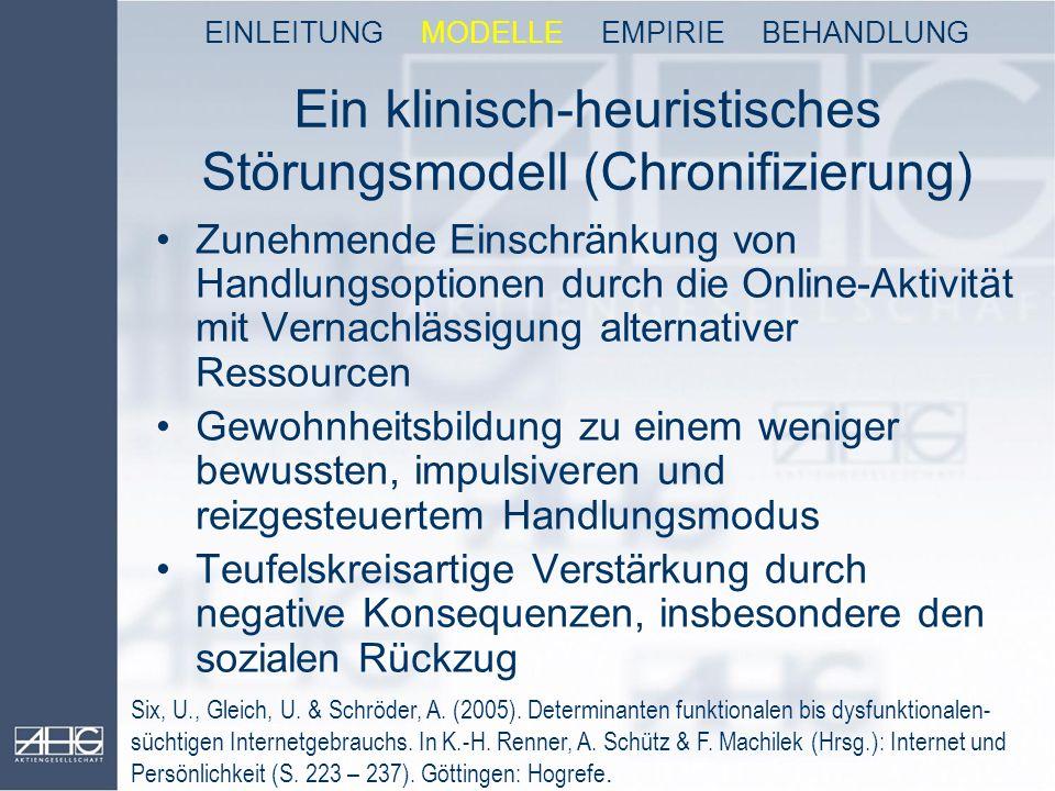Ein klinisch-heuristisches Störungsmodell (Chronifizierung)