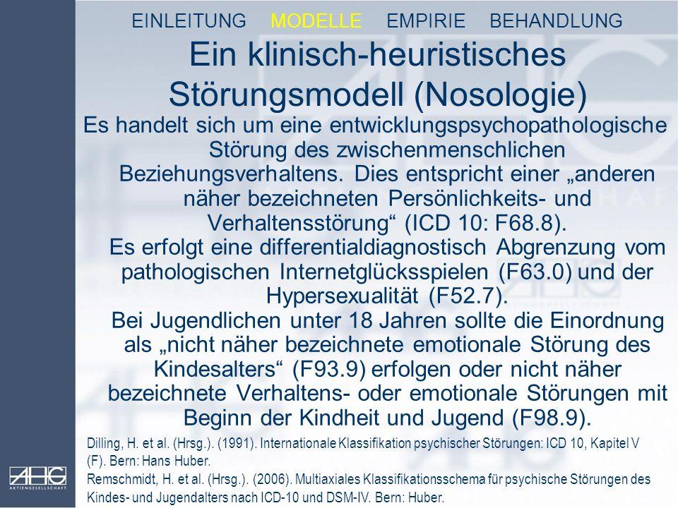 Ein klinisch-heuristisches Störungsmodell (Nosologie)