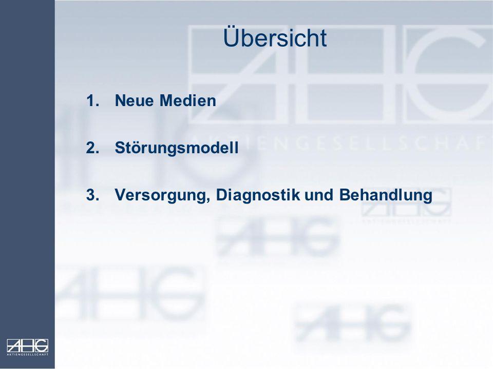 Übersicht Neue Medien 2. Störungsmodell