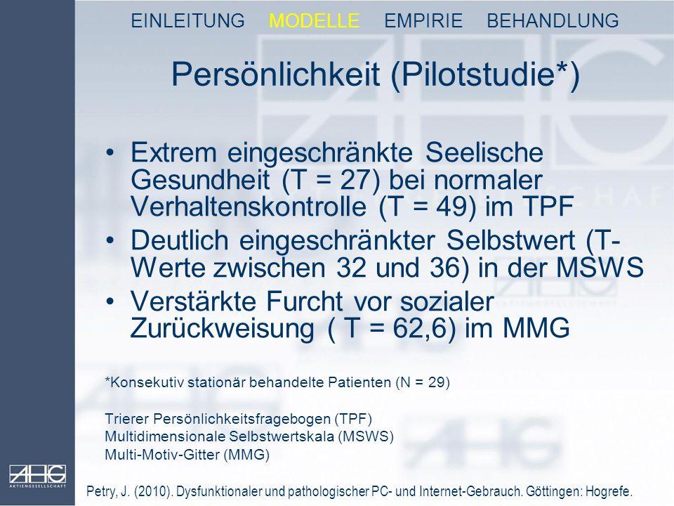 Persönlichkeit (Pilotstudie*)