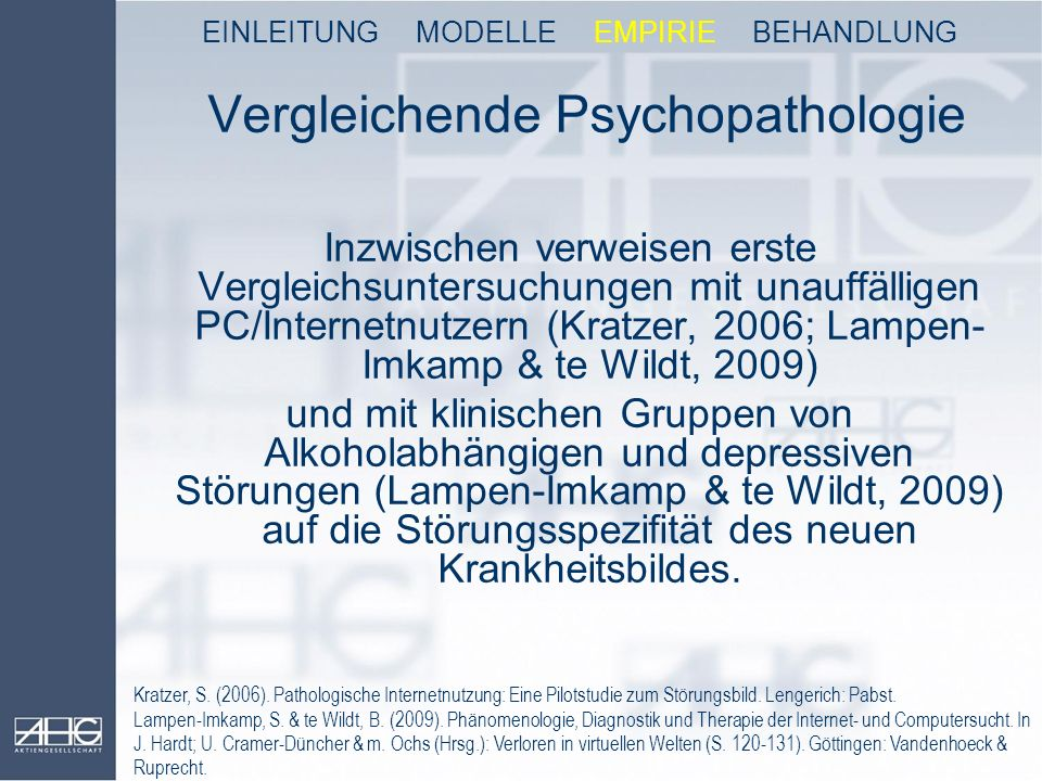 Vergleichende Psychopathologie