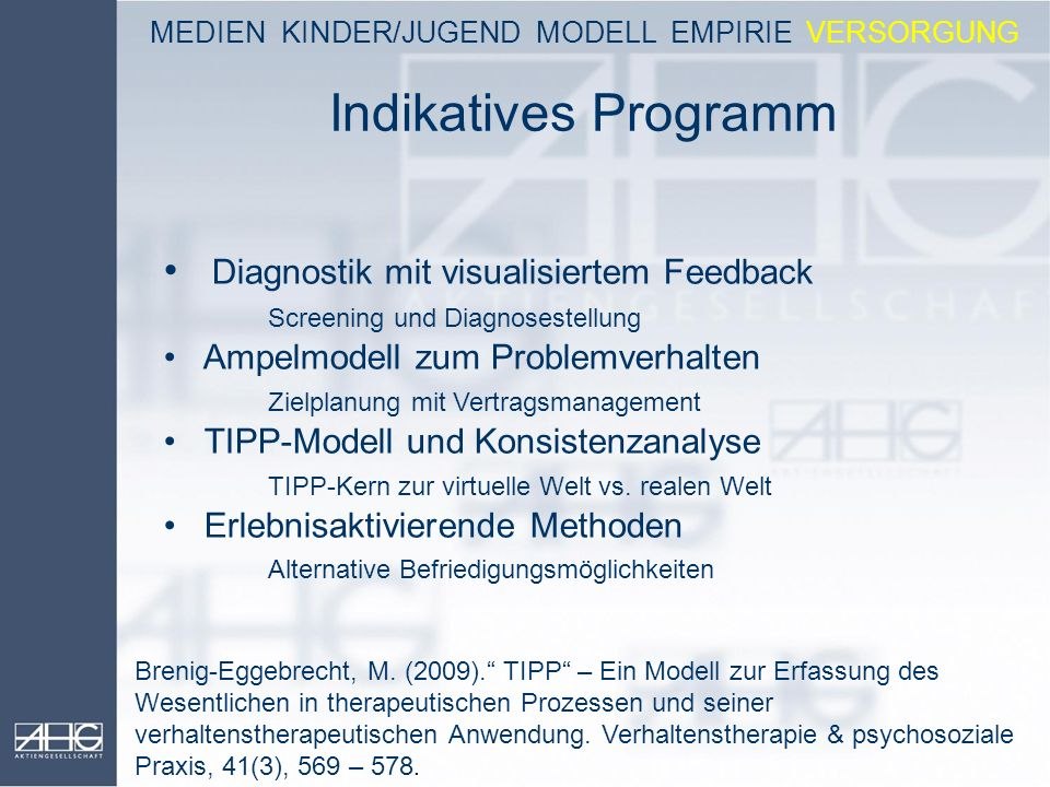 MEDIEN KINDER/JUGEND MODELL EMPIRIE VERSORGUNG