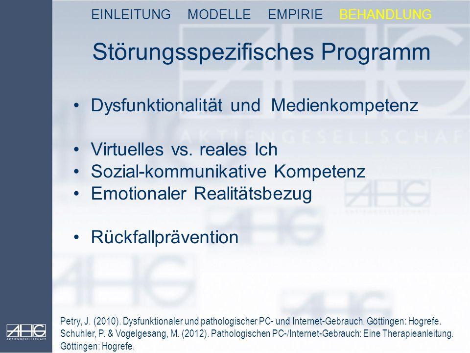 Störungsspezifisches Programm