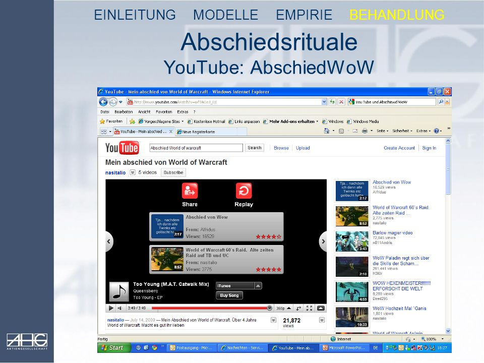 Abschiedsrituale YouTube: AbschiedWoW