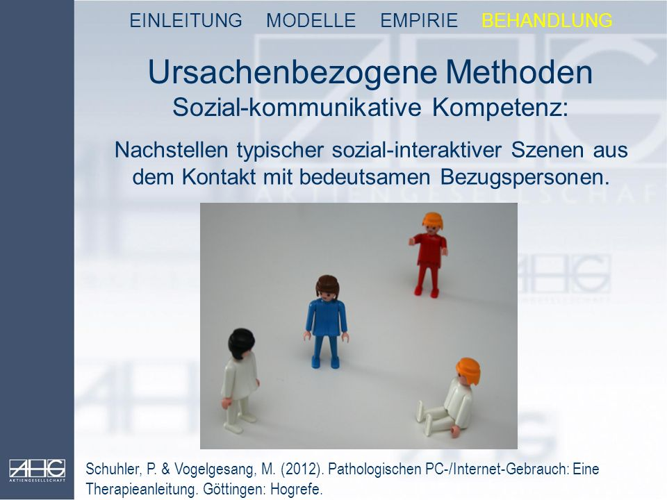 Ursachenbezogene Methoden Sozial-kommunikative Kompetenz: