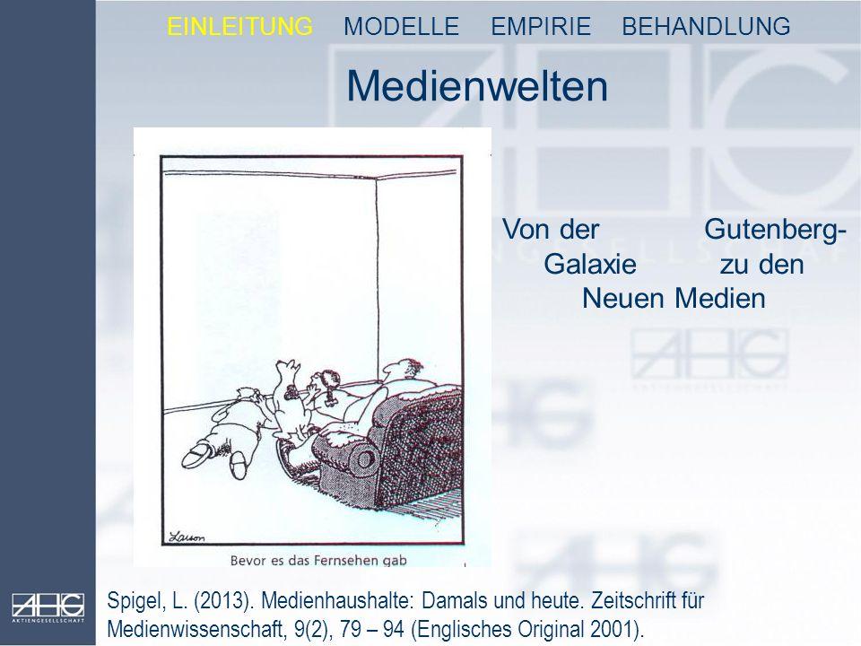 Medienwelten Von der Gutenberg-Galaxie zu den Neuen Medien