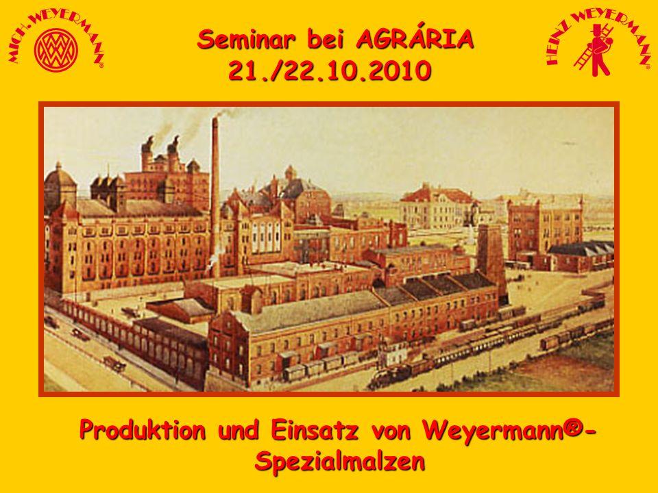 Produktion und Einsatz von Weyermann®-Spezialmalzen