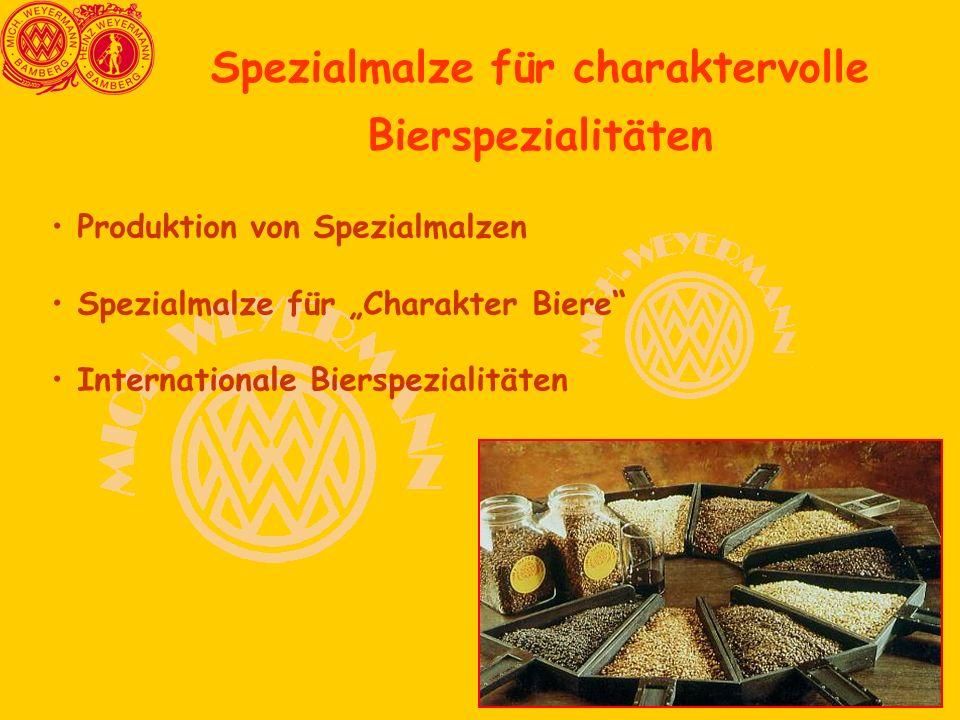 Spezialmalze für charaktervolle Bierspezialitäten