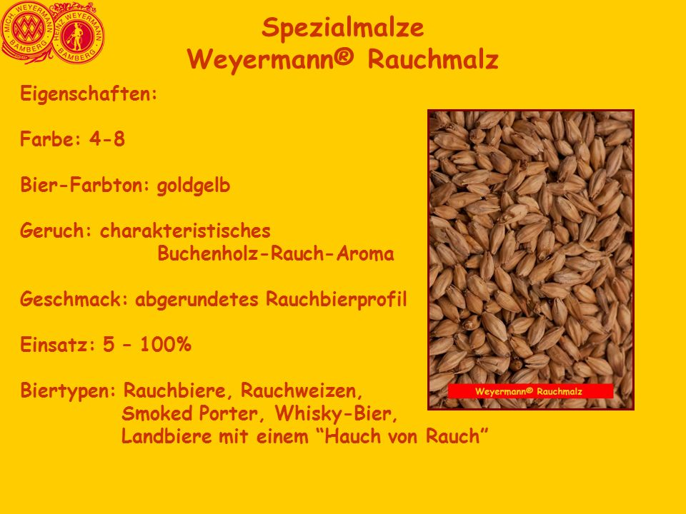 Spezialmalze Weyermann® Rauchmalz
