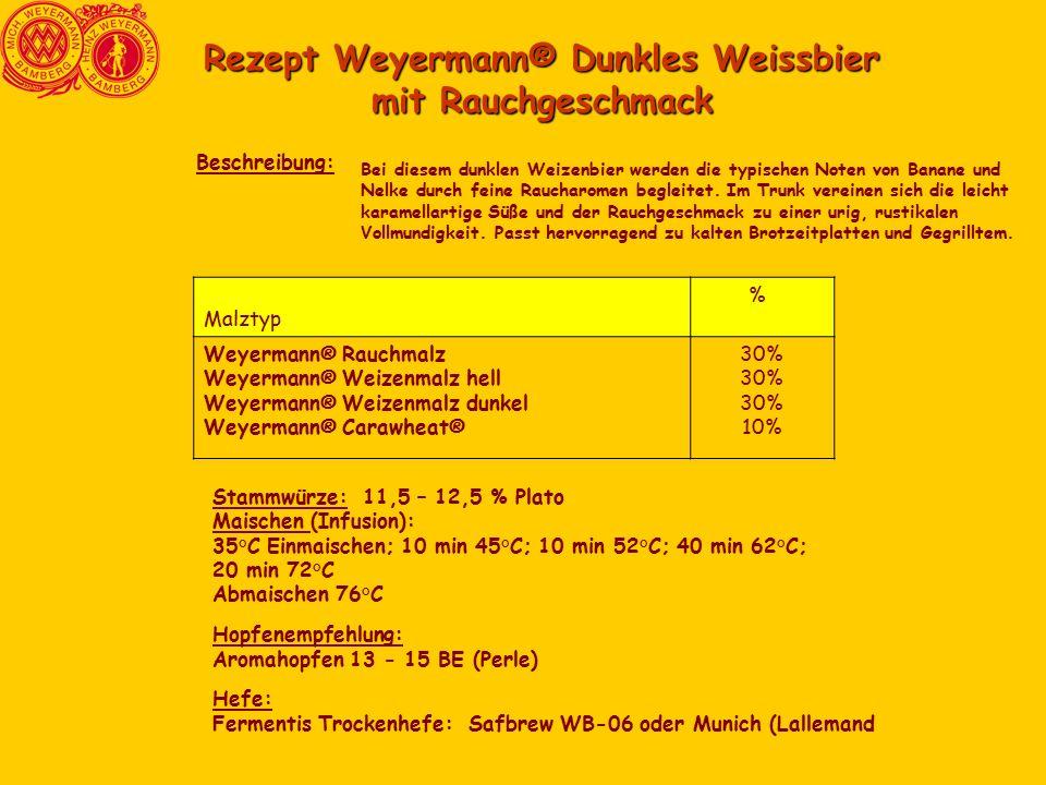Rezept Weyermann® Dunkles Weissbier mit Rauchgeschmack