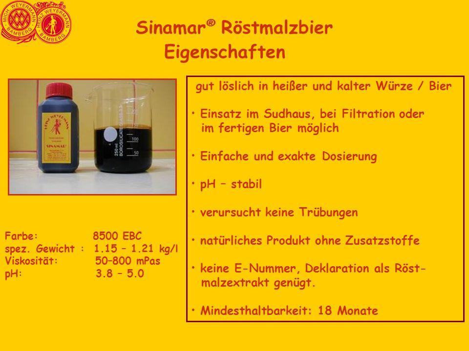 Sinamar® Röstmalzbier Eigenschaften