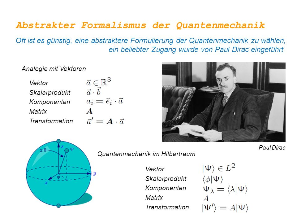 Abstrakter Formalismus der Quantenmechanik