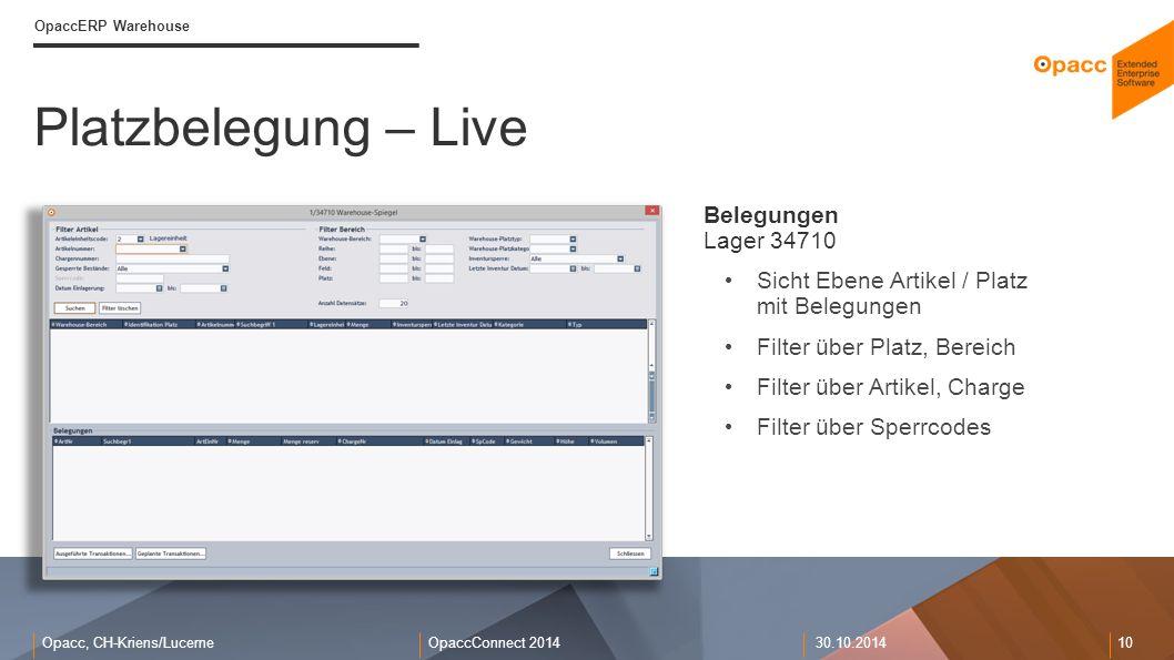 Platzbelegung – Live Belegungen Lager 34710