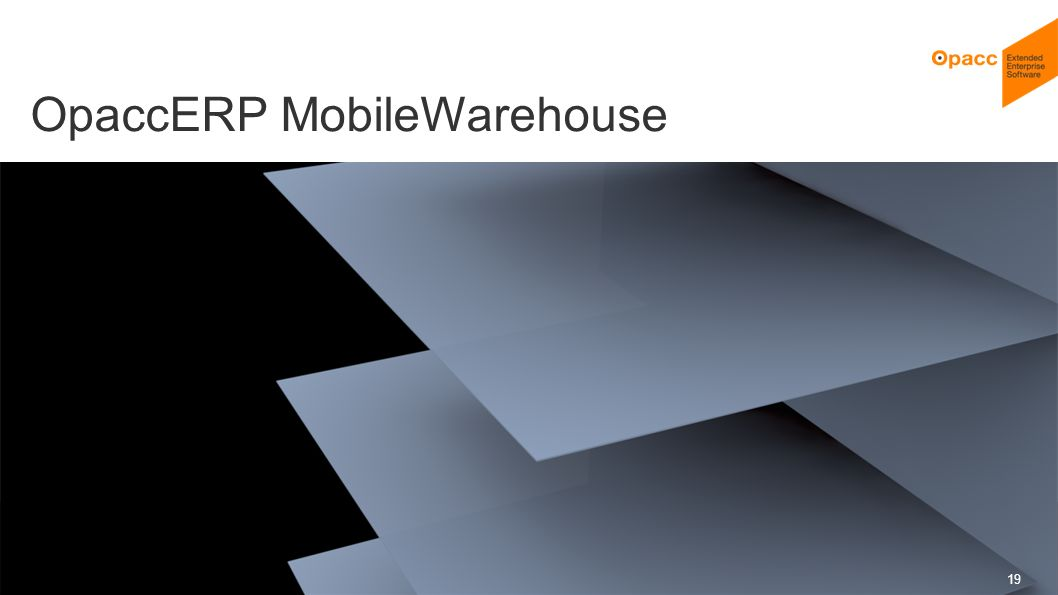 OpaccERP MobileWarehouse