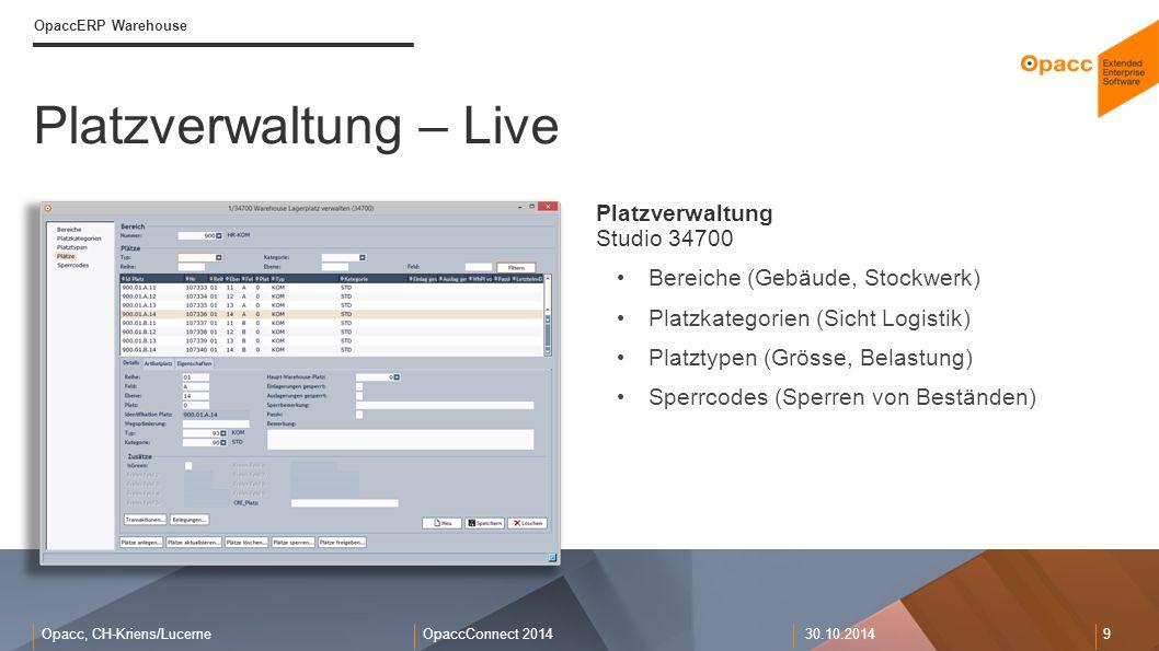 Platzverwaltung – Live