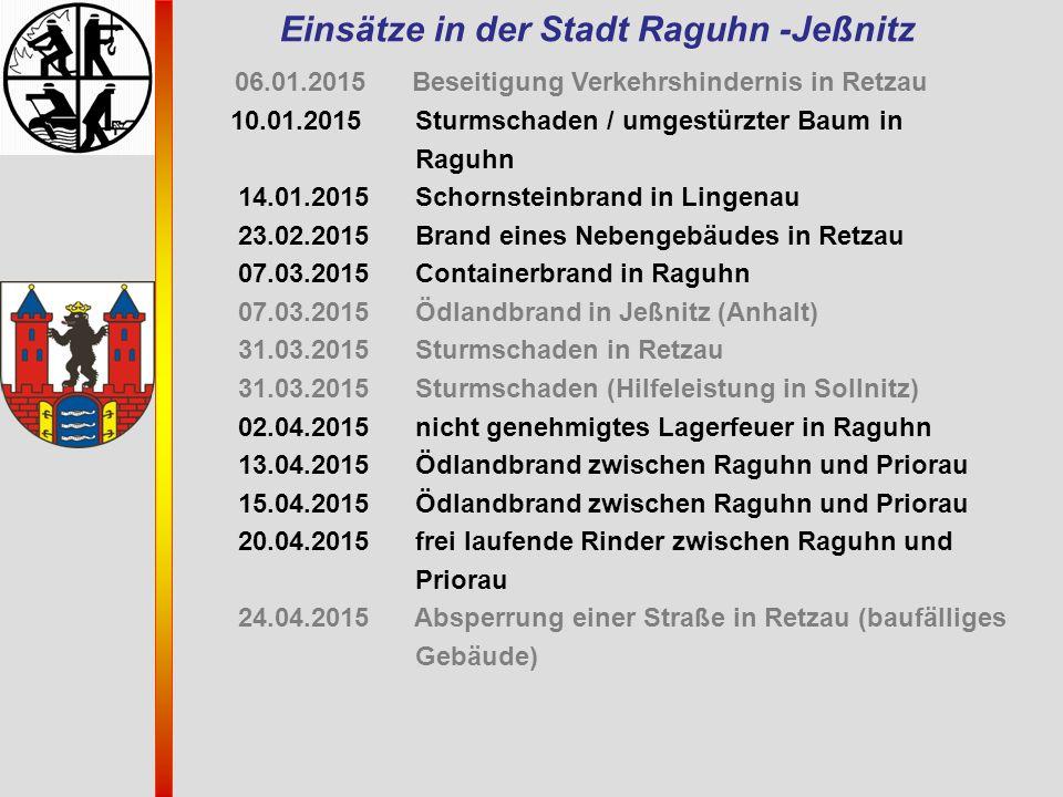 Einsätze in der Stadt Raguhn -Jeßnitz