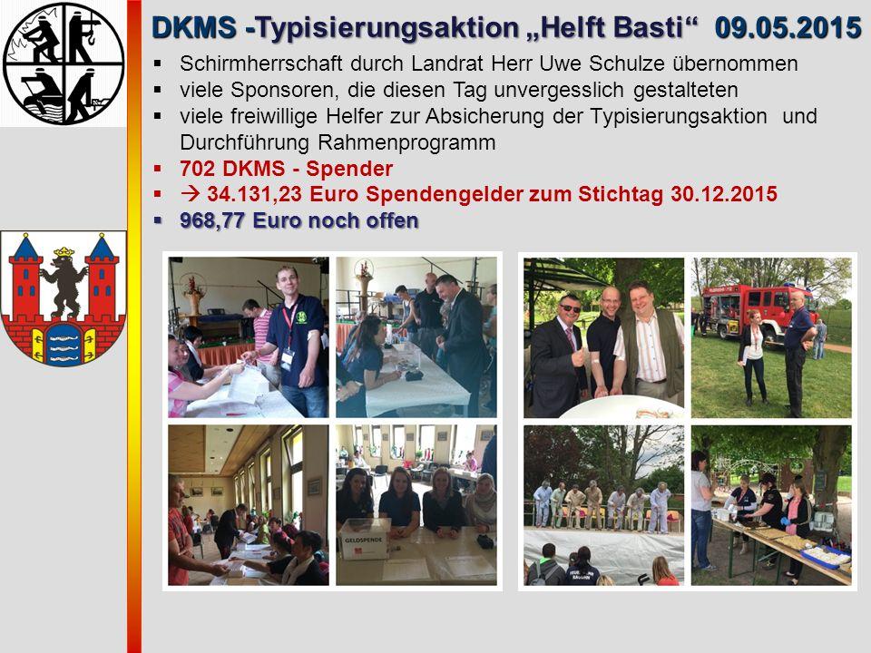 """DKMS -Typisierungsaktion """"Helft Basti 09.05.2015"""
