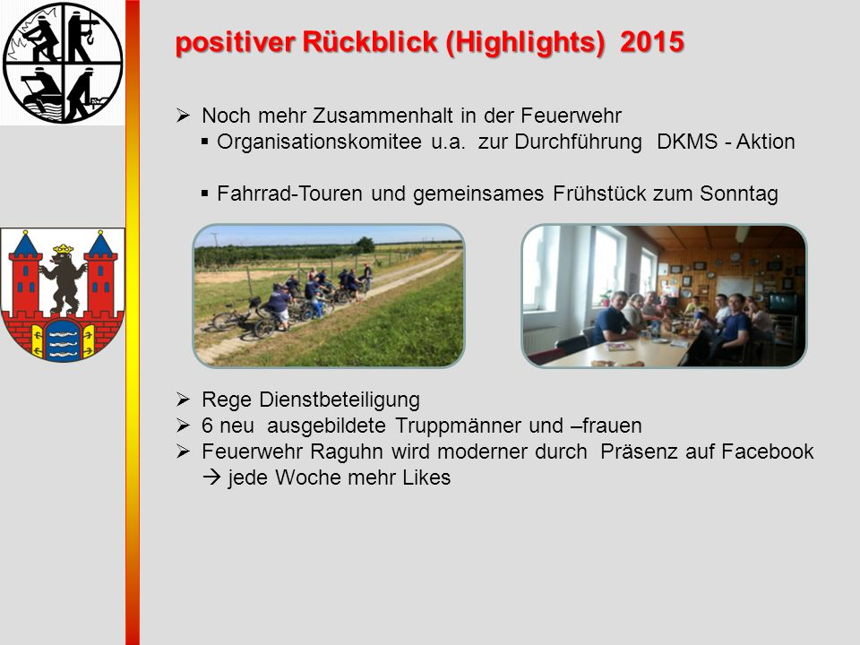 positiver Rückblick (Highlights) 2015