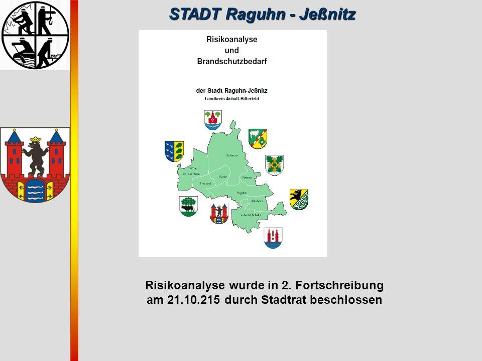 STADT Raguhn - Jeßnitz Risikoanalyse wurde in 2. Fortschreibung
