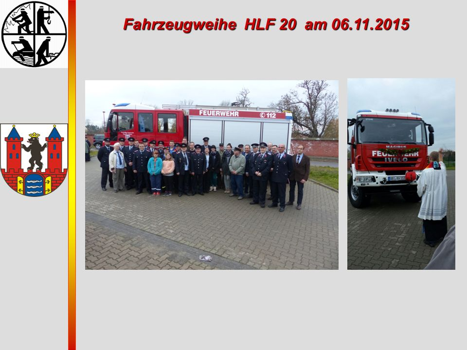 Fahrzeugweihe HLF 20 am 06.11.2015
