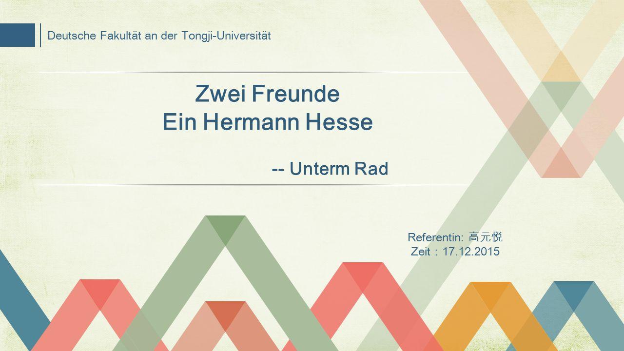 Zwei Freunde Ein Hermann Hesse