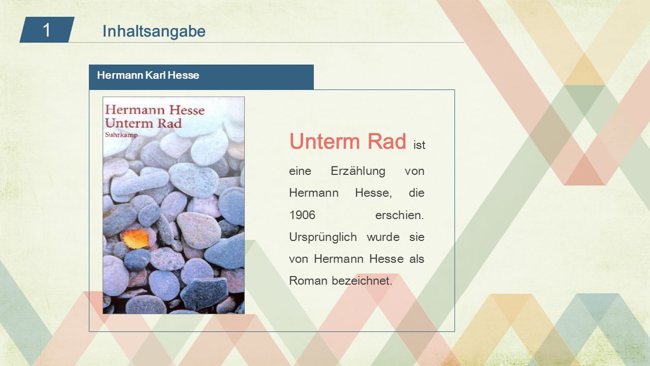 1 Inhaltsangabe. Hermann Karl Hesse.