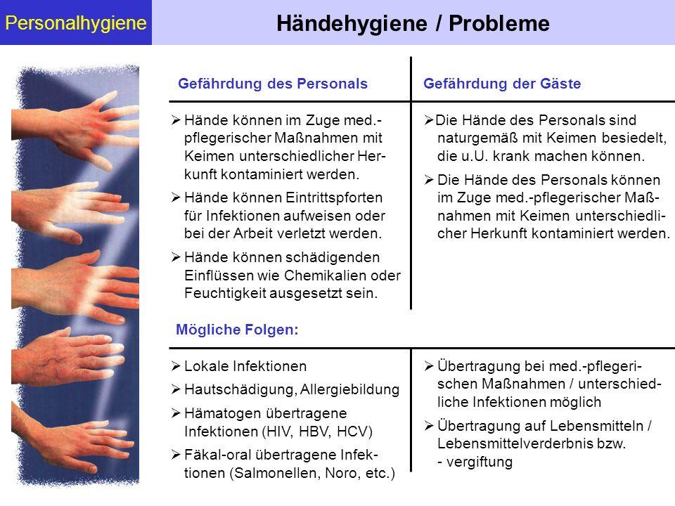 Händehygiene / Probleme