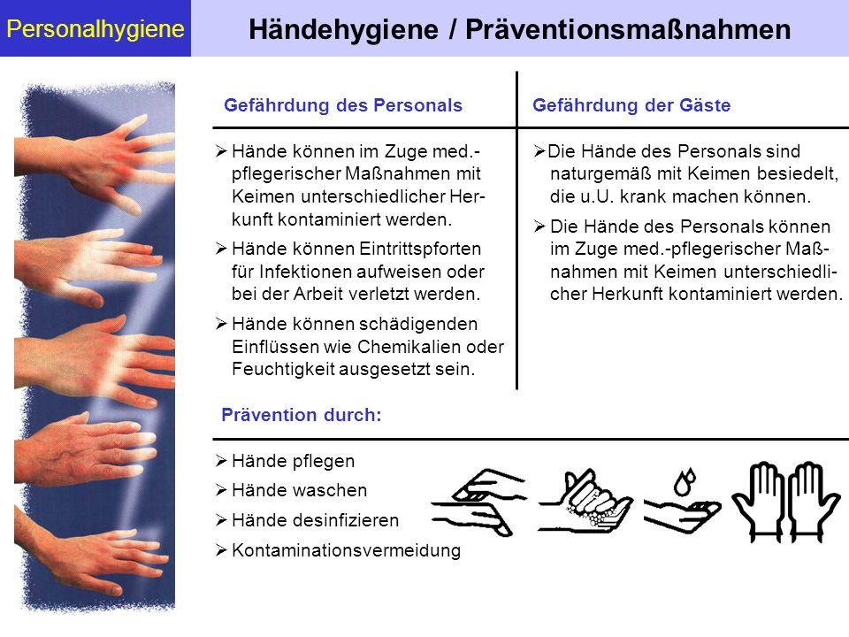 Händehygiene / Präventionsmaßnahmen