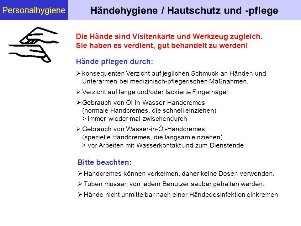 Händehygiene / Hautschutz und -pflege