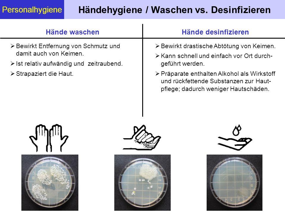 Händehygiene / Waschen vs. Desinfizieren