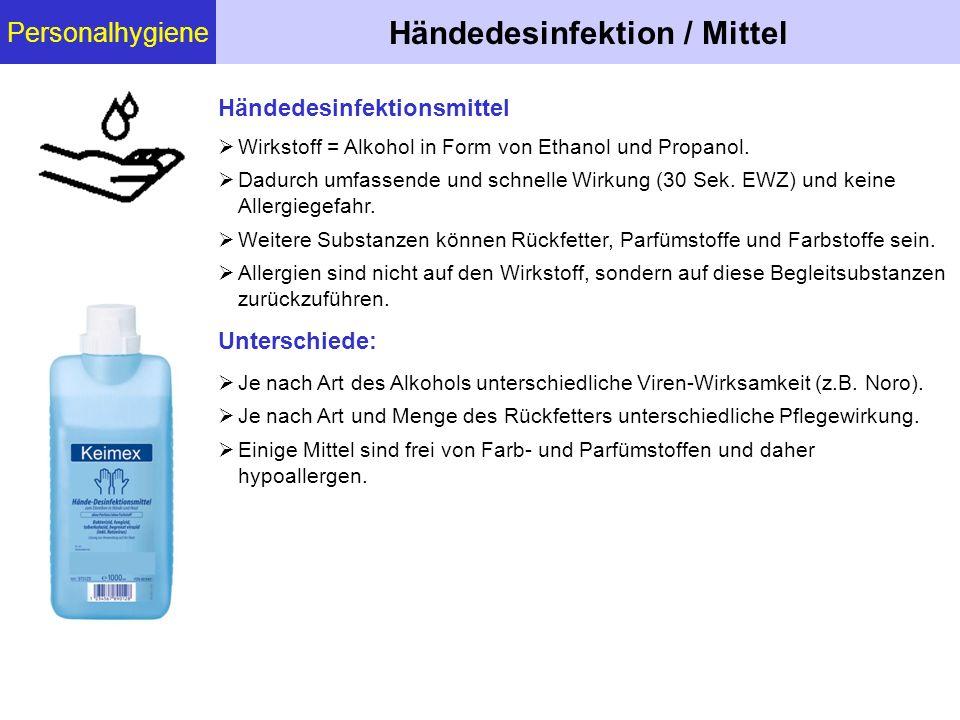 Händedesinfektion / Mittel