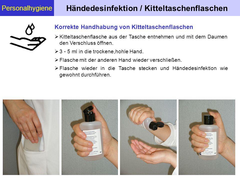Händedesinfektion / Kitteltaschenflaschen