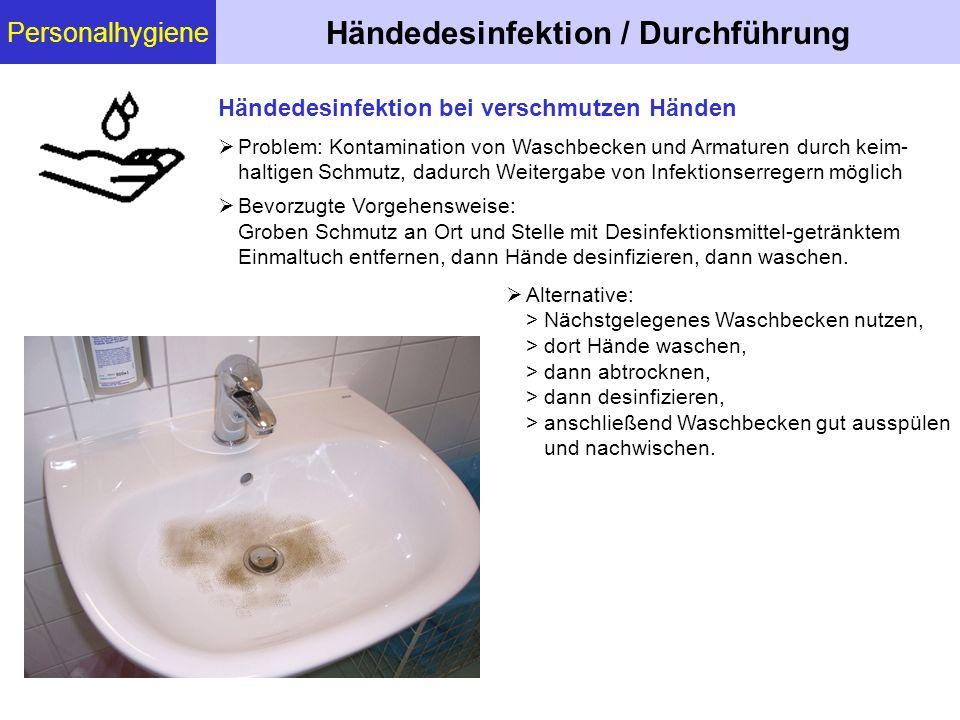 Händedesinfektion / Durchführung