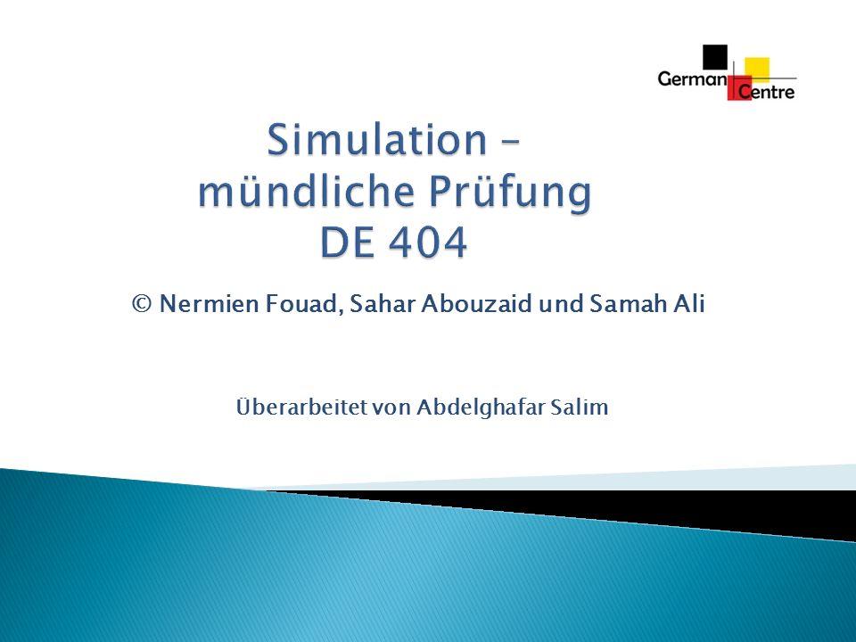 Simulation – mündliche Prüfung DE 404