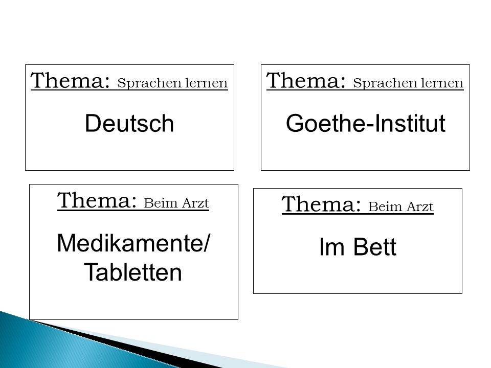 Deutsch Goethe-Institut Medikamente/ Tabletten Im Bett